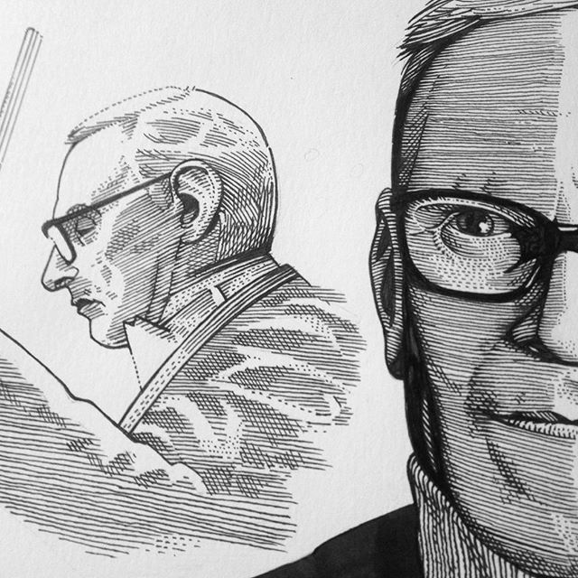 Work in progress for a commission. #wip #penandink #workinprogress #enniomorricone #maestro #detail #illustration #music