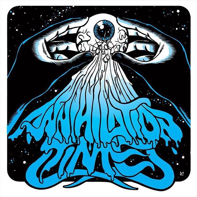 #tbt to 2005 when i designed the cover artwork for one of my favourite bands of the 2000s, the almighty Annihilation Time. The single was entitled Cosmic Unconsciousness and the artwork ended also on shirts and even sported often by @jmascis himself.  #AnnihilationTime #cosmicunconsciousness #illustration #2005 #throwbackthursday #rock #punk #stoner #california #eye #typography #cosmic #trippy #egg #stars #vynil #hardcore #brushandink #artwork #repoman #psychedelic