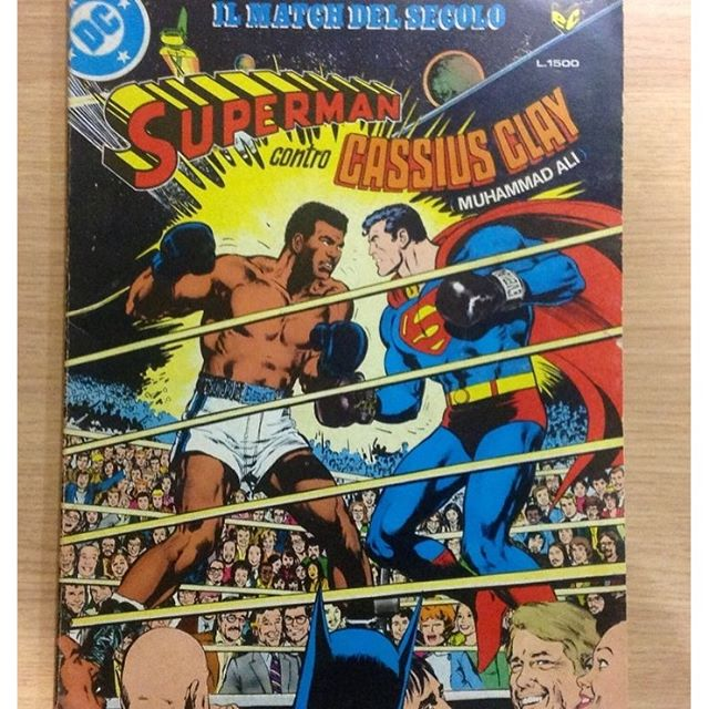 This special issue edited by Cenisio in 1979 is my first memory of Muhammad Ali, and the oddest by far. Also very odd is that at that time he was still named Cassius Clay here in Italy. Despite the very deep and motivational quotes he delivered along his life, in this sad day prefer to remember the champ with his light and humorous side.  #rip #muhammadali #cassiusclay #cenisio #superman #comics #1979 #weird #classic #nealadams  #dennisoneil
