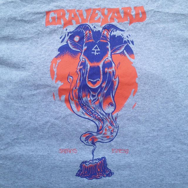 Almost ten years ago i got in touch with this obscure new band from Sweden no one had heard of in Italy and developed what, for what i know, along the years became their longest and best selling and iconic shirt. I kept collaborating with them for many years since and i can't tell nothing but good things about the guys. @graveyardmusic are disbanding and it's sad news for me, but I wish them the best for any new project and for their lives! Rock on pals and thank you! . #graveyard #rock #music #tshirt #illustration #design #stoner #blues #cheers #marcellocrescenzi #sweden #goat #satan #music #ink #artwork #2007