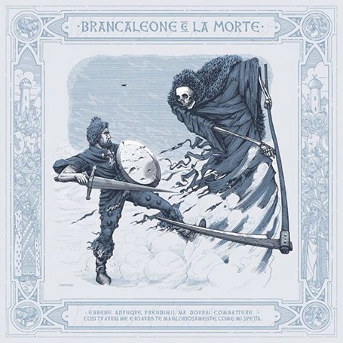 Sorry for bothering, but my #Brancaleone piece made it to the finals of the annual #Tapirulan contest. You can vote for it at the link in my bio. Thanks in advance to anyone who will vote for me 🏆🙏 - #contest #Italian #illustration #marcellocrescenzi #death #crusades #penandink #art #illustration #gassman #monicelli #movie #italy #linework #thankyou #etching #engraving #grim #gothic #middleages #decor #detail #frame #artwork #cinema #tapirulancontest #potd #illo #editorial