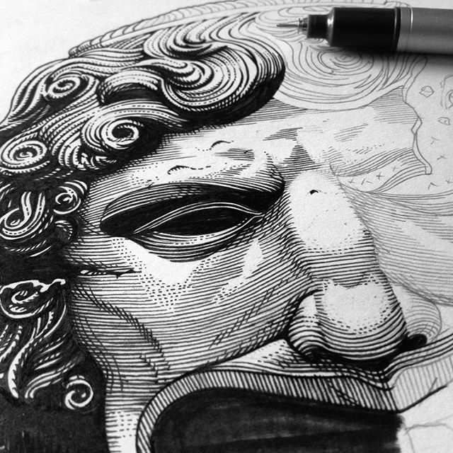 #workinprogress for a new artwork 🗿#wip