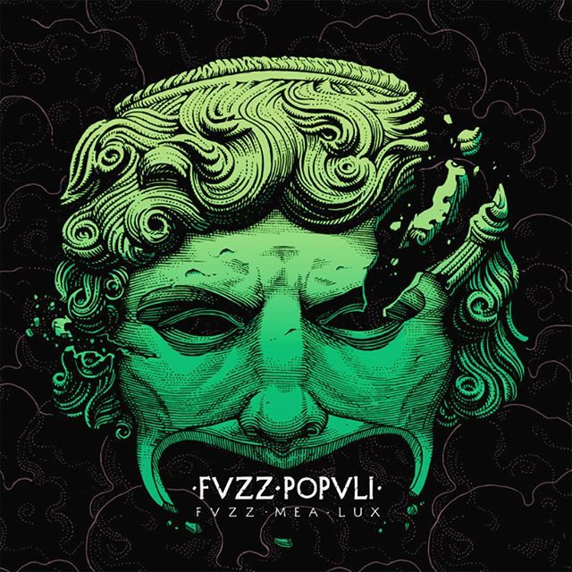 Fvzz Popvli is a roman brand new #psychedelic #rock, very #fuzz driven, ensemble with a strong #classical #roman concept at its core. Here's the artwork for their first record and a couple of shots documenting the #process for it.  A custom #typography has been made for it also. 🗿🎸✒️