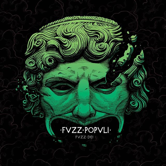 "I can now disclose the cover #artwork for #fvzzpopvli 's incoming release ""Fvzz Dei"" on @heavypsychsounds_records  I really like how this turned out, with a nod to Pink Floyd's ""Live at Pompeii"" i've been waiting for a long time to give. 🎸🎭"