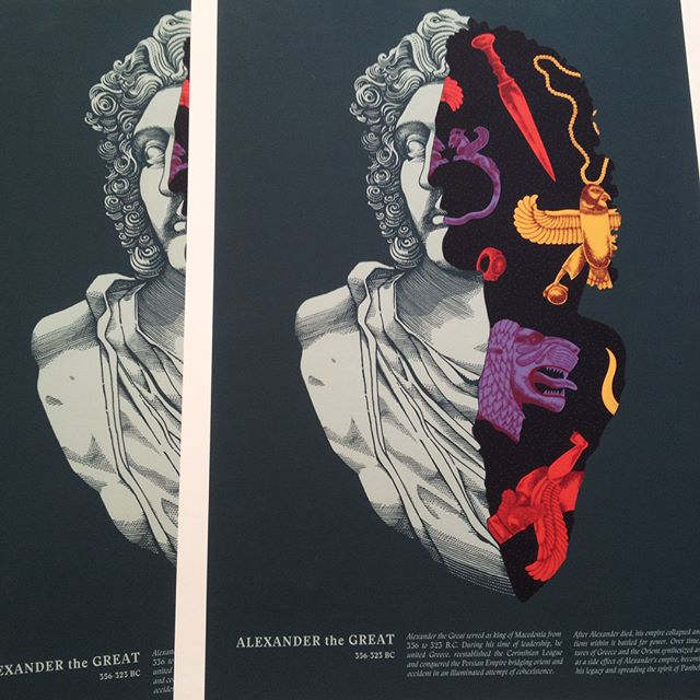 My #alexanderthegreat prints are here! A series of 20 giclée prints, A3 format, hand numbered and signed by me and my partner for this, @alessandro_cripsta. Contact us for one.