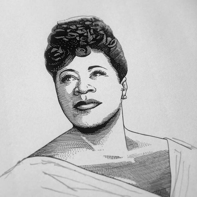 Another jazzy #workinprogress 🎤🎷 . #EllaFitzgerald #jazz