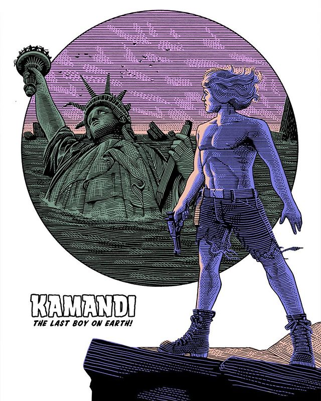 A bit late to the party but here's my humble homage to #JackKirby for his centennial. - Kamandi, the last survivor of the human race, hitted me like a punch in my childhood and was my first introduction to #dystopia and moral tales. Among the Kirby's creations #Kamandi stands the test of times so good and will always be my favourite. To me Jack Kirby has been a pivotal figure, whoever met me can confirm this and some of them I bonded with was because of our shared appreciation of the King. Happy centennial, Master of universes! #jackkirby100