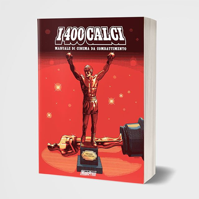 "After almost ten years of life, after being awarded four times as the best italian movie website, after having played a key role in shaping the new movie critic in Italy, finally the cult website about genre-cinema ""I 400 Calci"" (www.i400calci.com) becomes a book, out soon on @magicpressedizioni. - An anthological collection of longform reviews plus some brand new excerpts, Illustrations by Davide Genchi and forewords by Leo Ortolani - Here's my cover for it. 👊💥"