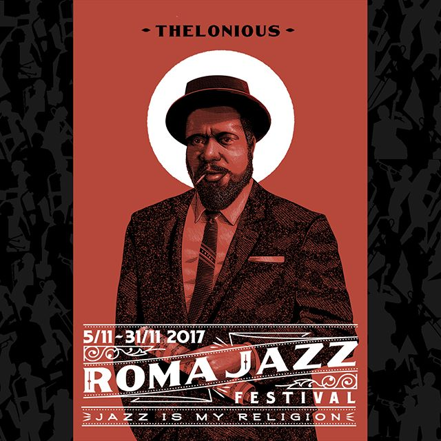 "Here's the series of portraits i did for @romajazzfestival #2017 They have been developed to be used as standalone and grouped to meet different use solutions. This year is the 41th edition of the festival, one of world's most important #jazz events, and its theme is ""Jazz is my Religion"", focusing on the relationship between jazz music and spirituality. The chosen portraits are the ones of some artists whom this year will be celebrated during the festival. 🎷🎺🎸🎹🎶"