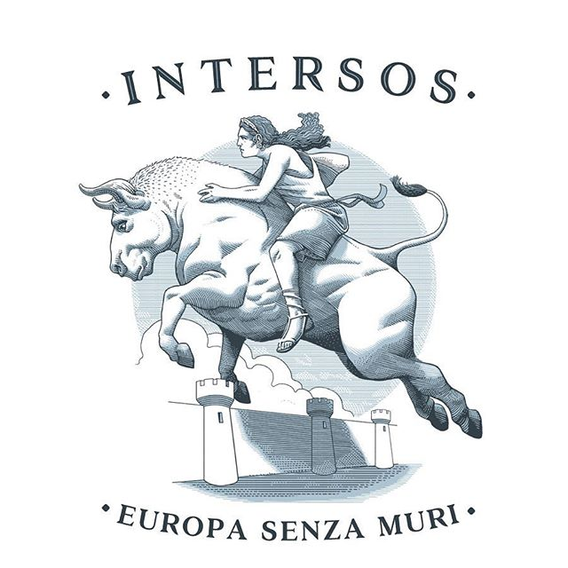 I'm glad to announce that my illustration for @intersos about #Europe and its borders has been selected by @autoridimmagini for their annual which will be showcased at the @bolognachildrensbookfair next month. Thanks to the jurors and AdI. 🍸🎩 - The illustration is about the origin of our name, the young #Europa who safely crossed seas and lands on #zeus in the form of a huge white bull and went to become the first #queen of #Crete according to the #greek #mythology. A myth that resonates deeply nowadays 🐂👸