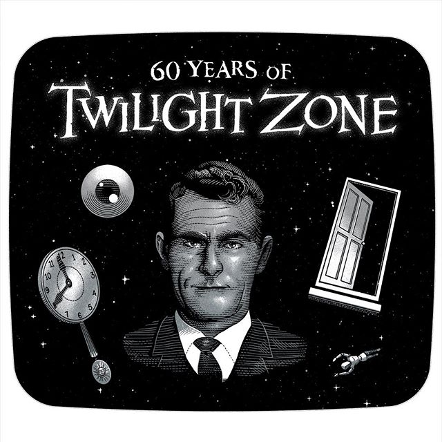 This month, 60 years ago, The Twilight Zone premiered on CBS, changing television and fantastic narrative forever since. Rod Serling's brainchild spanned 60 years, defining along the way, with many incarnations, new landscapes of fantasies, speculations and fears, bringing humanity's questions and anxieties in prime-time televison, introducing some of the best sci-fi authors to a wide audience and questioning what is reality and what really matters, then.  I'm not used to the pop-culture celebrations, but I had time to draw a little homage to something that truly shaped my imagination and, to some extent, my morals.  Thank you Mr Serling, and cheers forever to the Twilight Zone. 🚪👁🕰