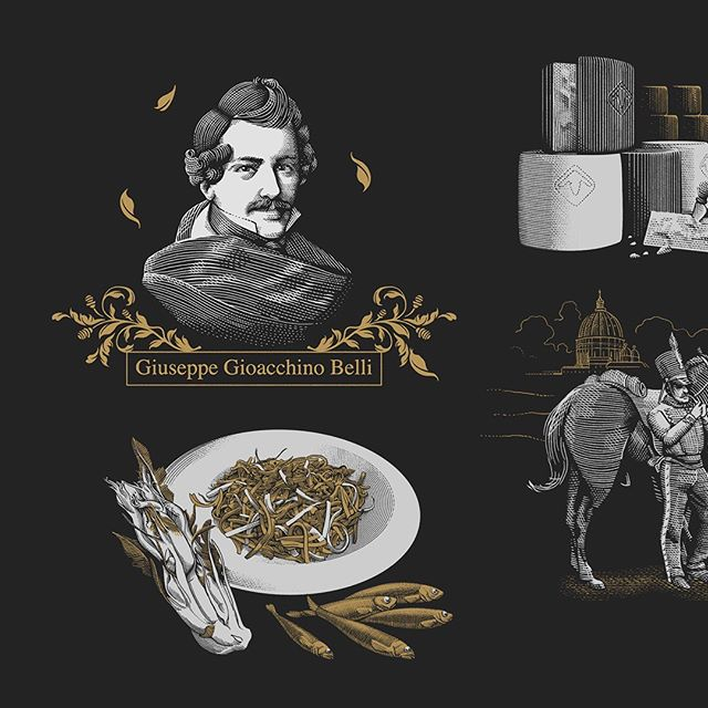 This year i have worked with @mccann_mw for the interface design of the brand new @mastercarditalia Bistro, the first cash-less restaurant in Italy, located in the international airport of Rome Fiumicino. I have produced a set of spot illustrations, people and ingredients, to narrate the roman traditional cuisine and its #history on the interactive digital menu-tables. A funny and challenging project. AD by Alessio Bianconi.