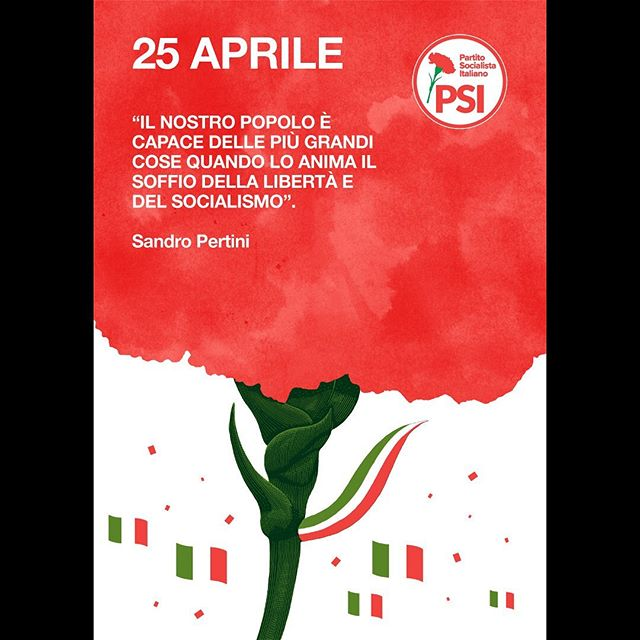 Got to homage the classic #EttoreVitale iconic #carnation poster for the celebrations of #25Aprile 1982, by Partito Socialista Italiano. The original poster, swipe for it, is still so good I felt I could only, humbly, walk closely on his footprints. Happy Liberation Day, fellow italians, stay strong as our grandparents did. 🇮🇹