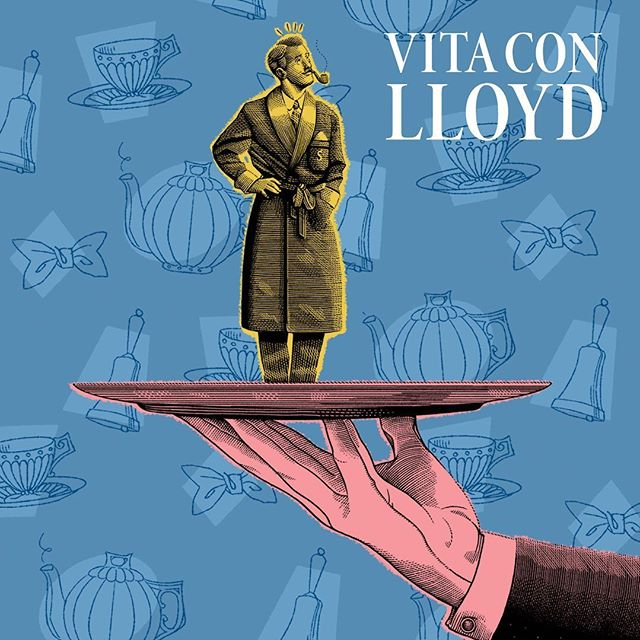@vitaconlloyd (Life with Lloyd) is a surreal collection of bittersweet dialogues between a man and his imaginary butler, Lloyd. It started as facebook page an then became a series of best-selling books and a pop culture phenomenon. Being me and his author, Simone, longtime friends and having seen every step of the project since its birth, it was time for me to homage it with a little illustration, inspired by mid-century editorial art, in the vein of the series' retro, wordly, comedic touch. ☕️🎩